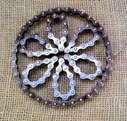 RECYCLED BIKE CHAIN TRIVET POT STAND - by Noah's Ark