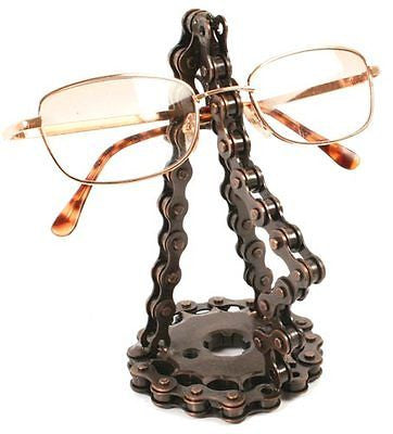 recycled bike chain glasses stand