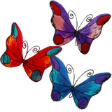 butterfly suncatchers window suction decorations