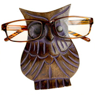 MANGO WOOD OWL SPECTACLES / GLASSES STAND