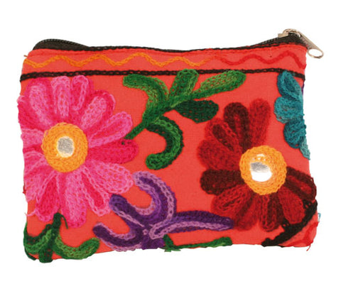 RED KASHMIRI COIN PURSE