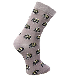 GREY ELEPHANT BAMBOO SOCKS - ladies