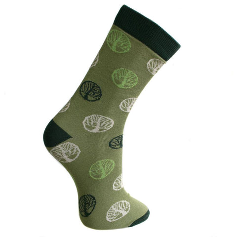 GREEN TREE OF LIFE BAMBOO SOCKS - ladies