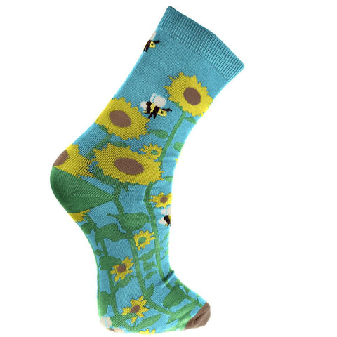 SUNFLOWER BAMBOO SOCKS - ladies