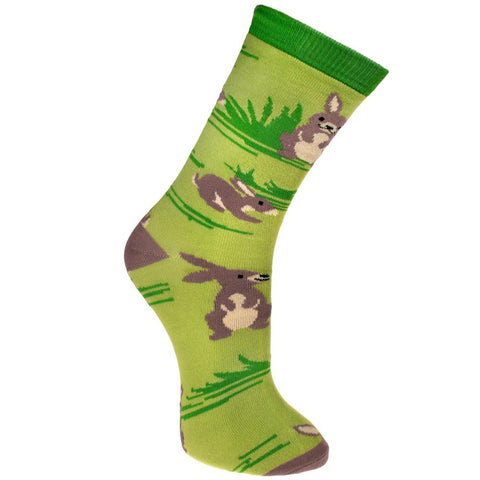 BUNNY RABBIT BAMBOO SOCKS - ladies