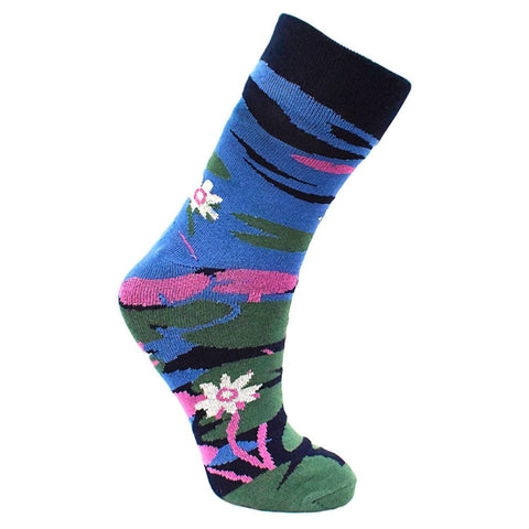 WATER LILY BAMBOO SOCKS - ladies