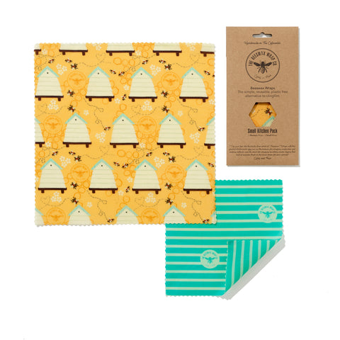 BEESWAX WRAPS SMALL KITCHEN PACK - beehive