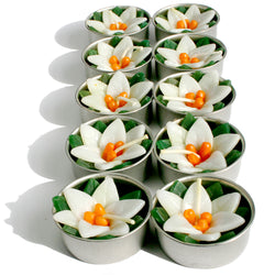 WATERLILY FLOWER TEALIGHTS