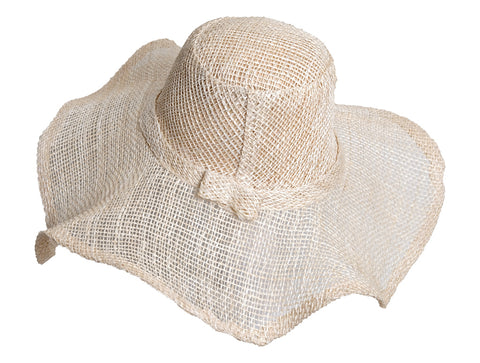 CURVY WIDE BRIM RAFFIA & SISAL HAT - by Madaraff