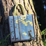 MOONLIGHT WOODLAND JUTE SHOPPING BAG