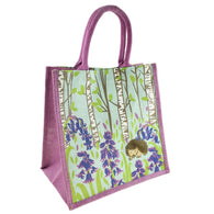 HEDGEHOG JUTE SHOPPING BAG  - LILAC