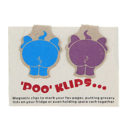 ELEPHANT POO MAGNETIC CLIPS