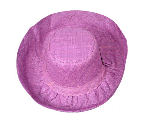 PACKABLE SMALL BRIM RAFFIA HAT in CHOICE OF COLOURS - by Madaraff