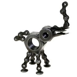 RECYCLED BIKE CHAIN & NUT ELEPHANT ORNAMENT - by Noah's Ark