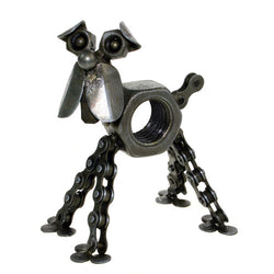 RECYCLED BIKE CHAIN & NUT DOG ORNAMENT - by Noah's Ark