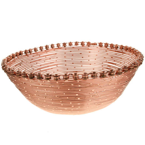 COPPER BIKE CHAIN & WIRE BOWL