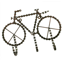 BIKE SHAPED RECYCLED BIKE CHAIN TRIPLE HOOKS - by Noah's Ark