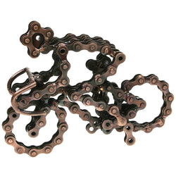 RECYCLED BIKE CHAIN RACING BIKE ORNAMENT - by Noah's Ark