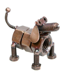 RECYCLED NUTS & BOLTS DOG ORNAMENT - by Noah's Ark