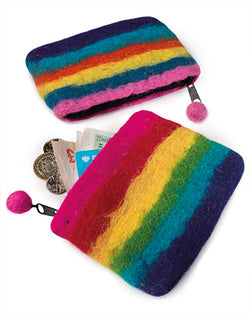 RAINBOW FELT COIN PURSE