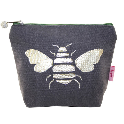 GOLD BEE COSMETIC PURSE - by Lua