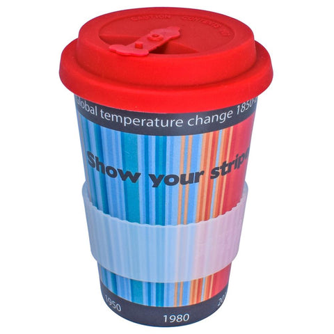 RICE HUSK REUSUABLE CUP - climate stripes