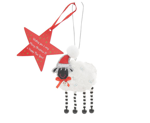 CHRISTMAS SHEEP HANGING DECORATION - by Believe You Can
