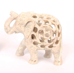 SOAPSTONE UNDERCUT ELEPHANT ORNAMENT