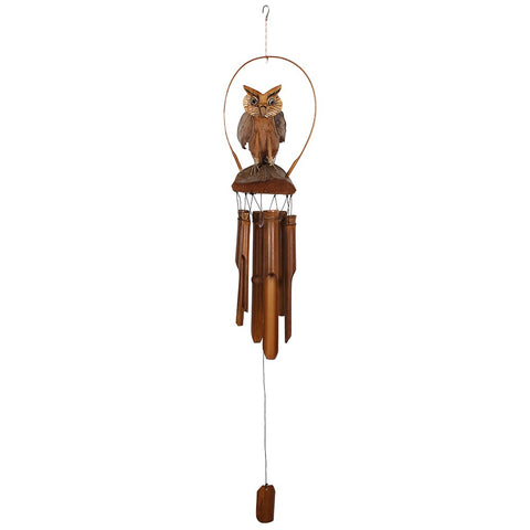 OWL BAMBOO WIND CHIME