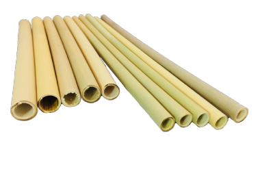 BAMBOO DRINKING STRAWS - pack of 4