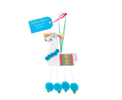 CALMER LLAMA HANGING DECORATION - by Believe You Can