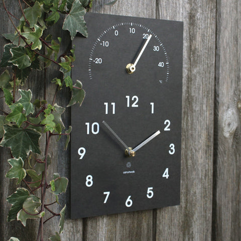 ECO CLOCK & THERMOMETER - by ashortwalk