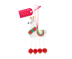 FA-LA-LA-LA-LLAMA HANGING DECORATION - by Believe You Can