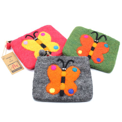BUTTERFLY FELT COIN PURSE