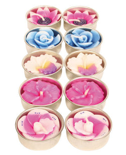 TROPICAL FLOWER TEALIGHTS