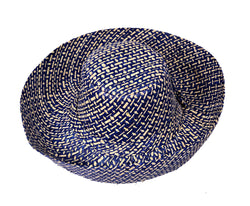 CAPITAL CHECK WIDE BRIM PACKABLE RAFFIA HAT - by Madaraff