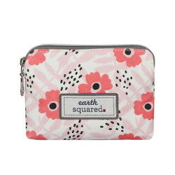 OIL CLOTH PURSE in PINK POPPY - by Earth Squared