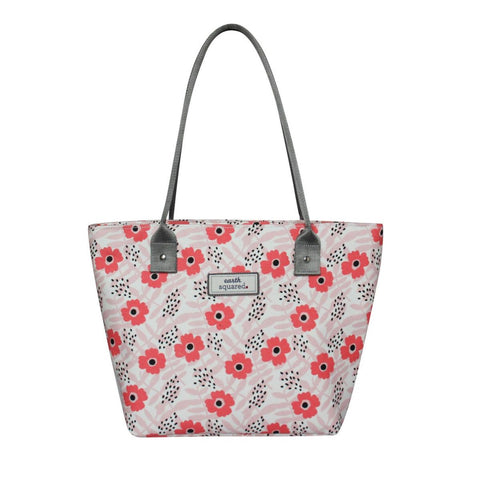 OIL CLOTH TOTE BAG in POPPY PINK  - by Earth Squared