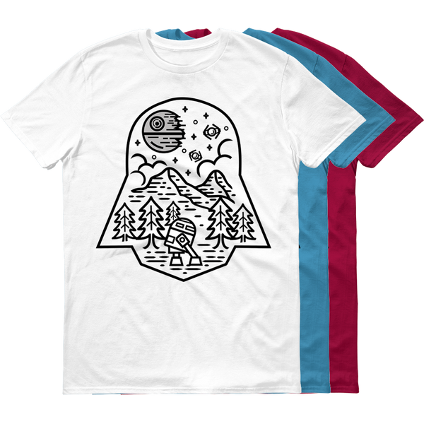 Darth Nature - Color Variant - White Rock Clothing T-Shirt - t-shirt