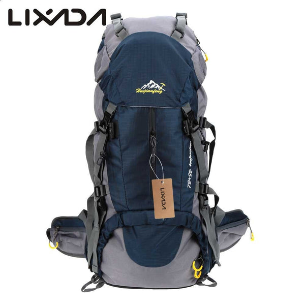 50L Waterproof Outdoor Hiking Backpack with Rain Cover