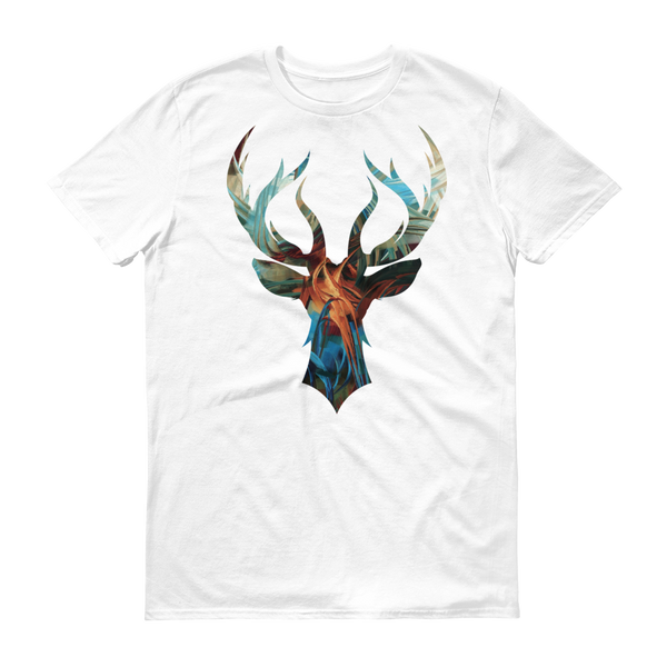 Stag Head Art Variant 2 - White Rock Clothing T-Shirt - t-shirt