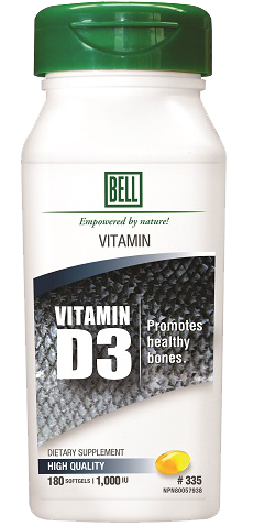 #335 Vitamin D3 (180 softgels)