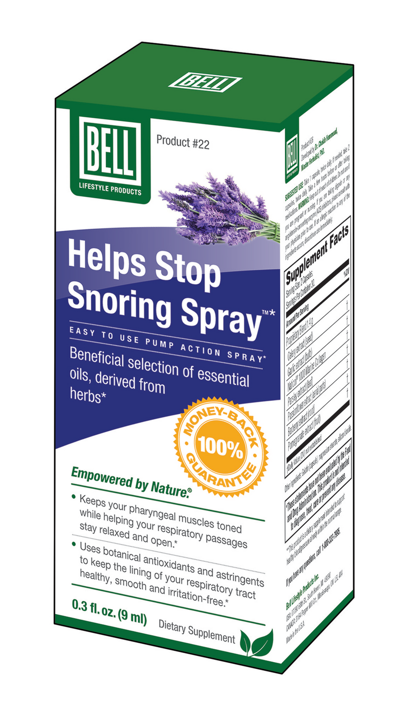 22 stop snoring spray 9ml | bell lifestyle products – bell lifestyle