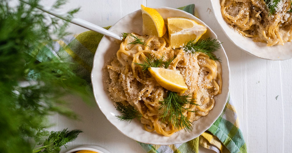 Lemon Dill Linguine Alfredo