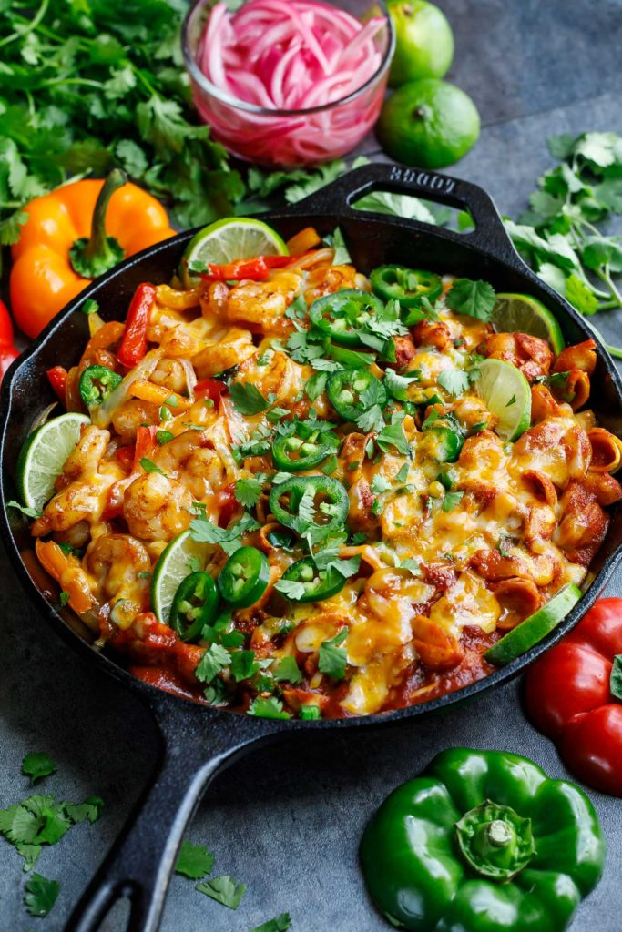 One-Pot Shrimp Fajita Pasta