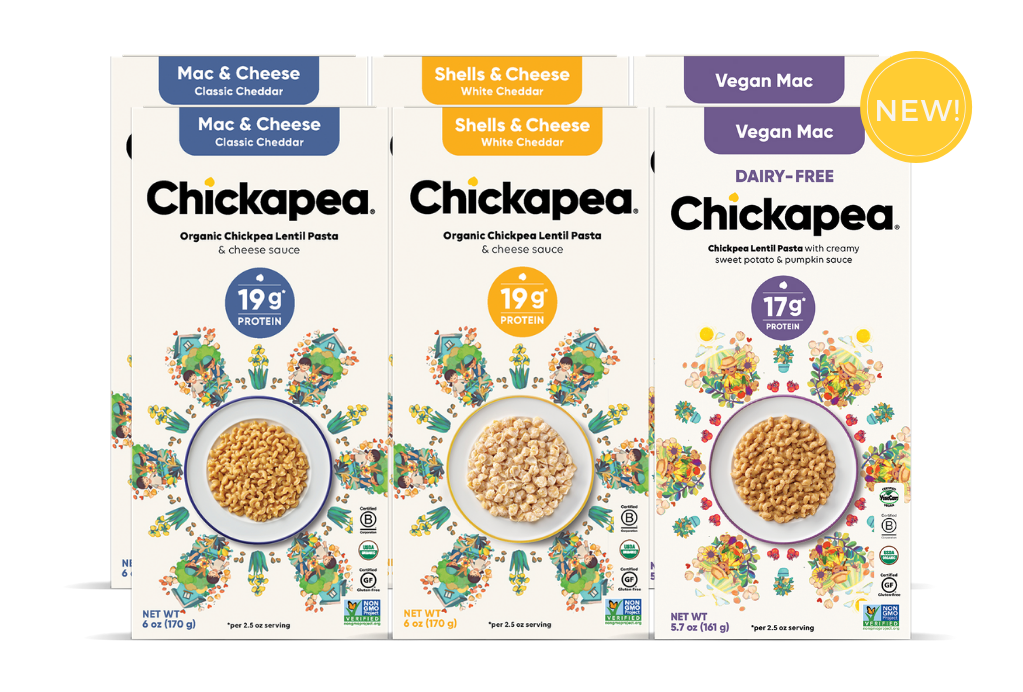 Chickapea Organic Chickpea Lentil Spirals & Cheese (6 pack)