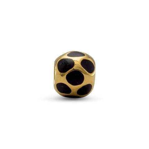 14 Karat Gold Plated and Enamel Story Bead
