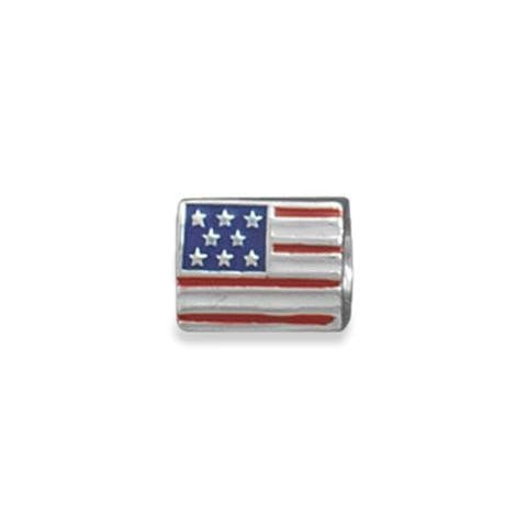 American Flag Story Bead