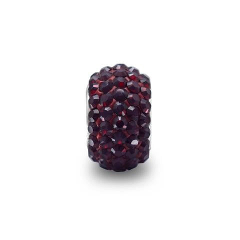 Garnet Red Pave Crystal Story Bead