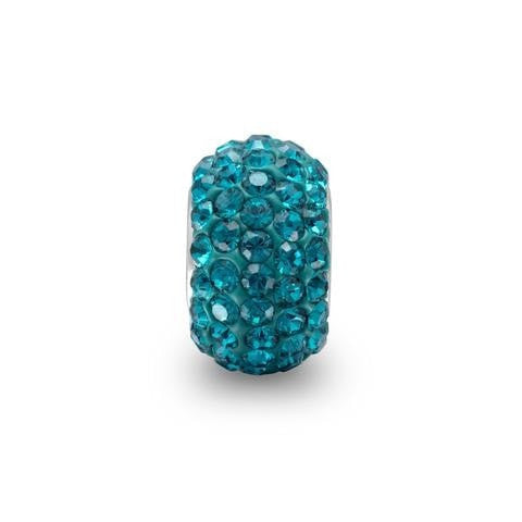 Blue Pave Crystal Story Bead